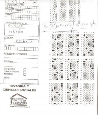 Pauta corrección ensayo general de Historia y Cs. Sociales n°2 (realizado el 11/10/08)
